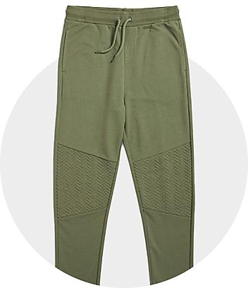 Boys Khaki Quilt Knee Pants