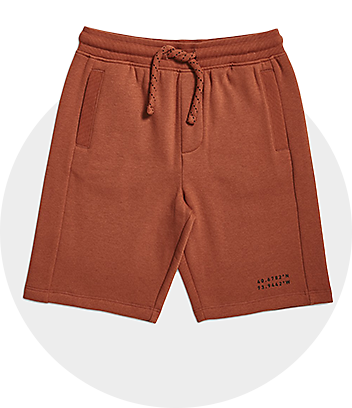 Boys Rust Print Shorts