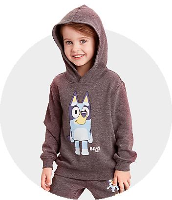 brown kids bluey hoodie