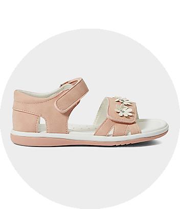 Girls Pink Flower Sandals