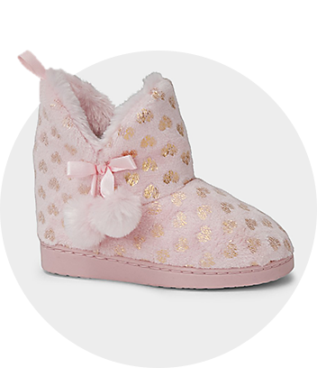 Girls Pink Boot Slippers