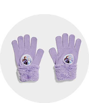 Girls Gloves Frozen Purple