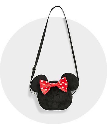 Girls Cross Body Bag Minnie Mouse Black