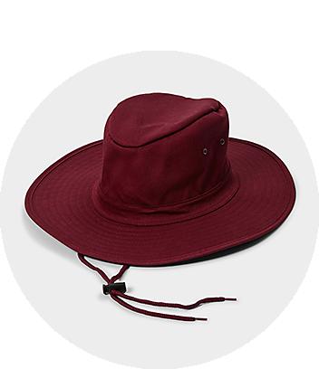 Kids Maroon School Hat