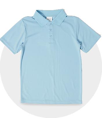 Kids Blue School Polo Shirt