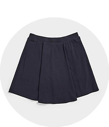 Girls Navy Blue School Skirt