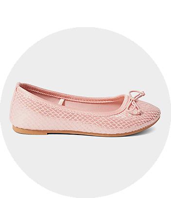 Girls Pink Ballet Flats