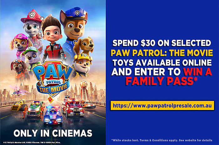 Spend to win a family family to see the new Paw Patrol movie.