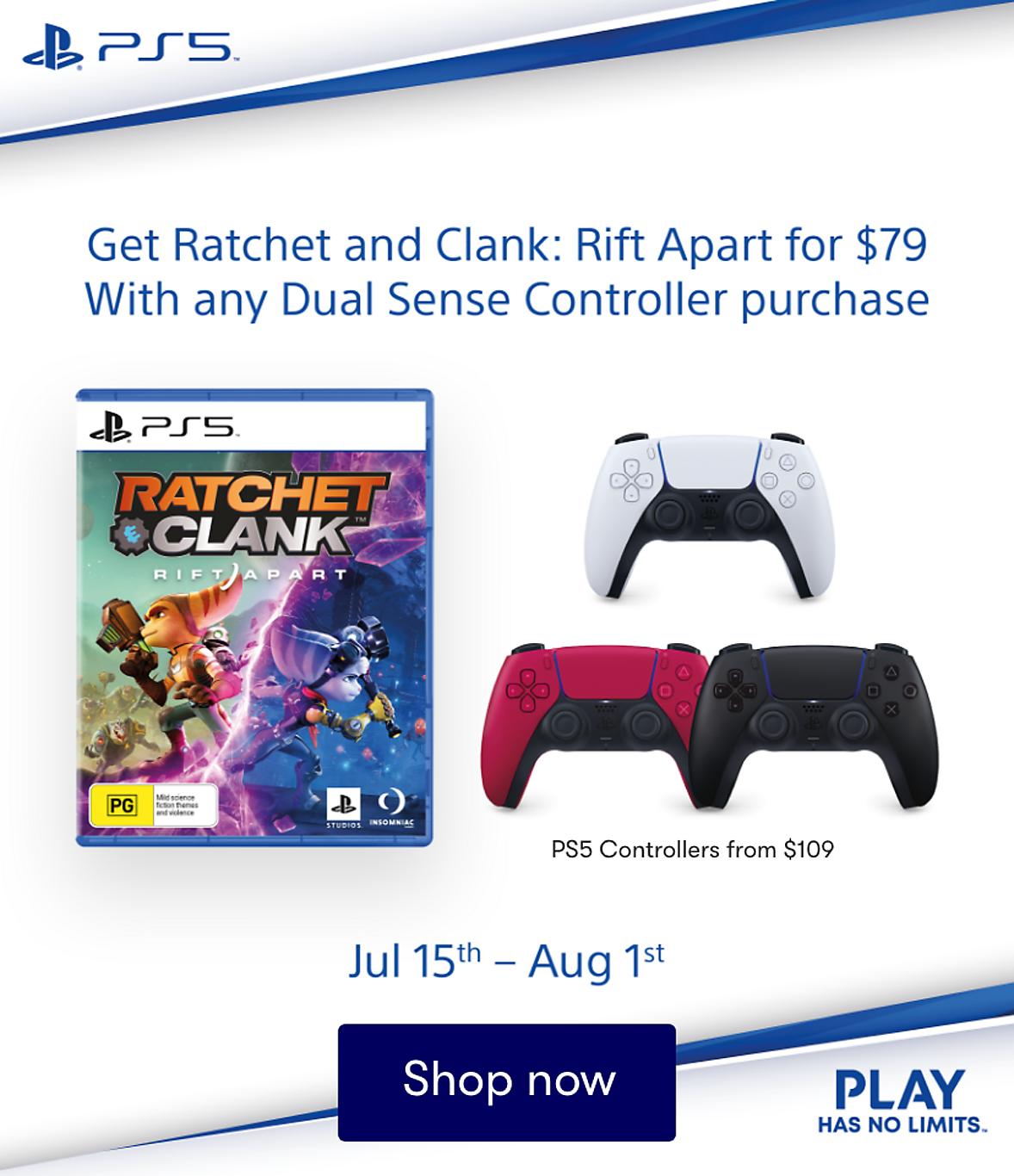 Ratchet & Clark Rift Apart + Dual Sense Controller