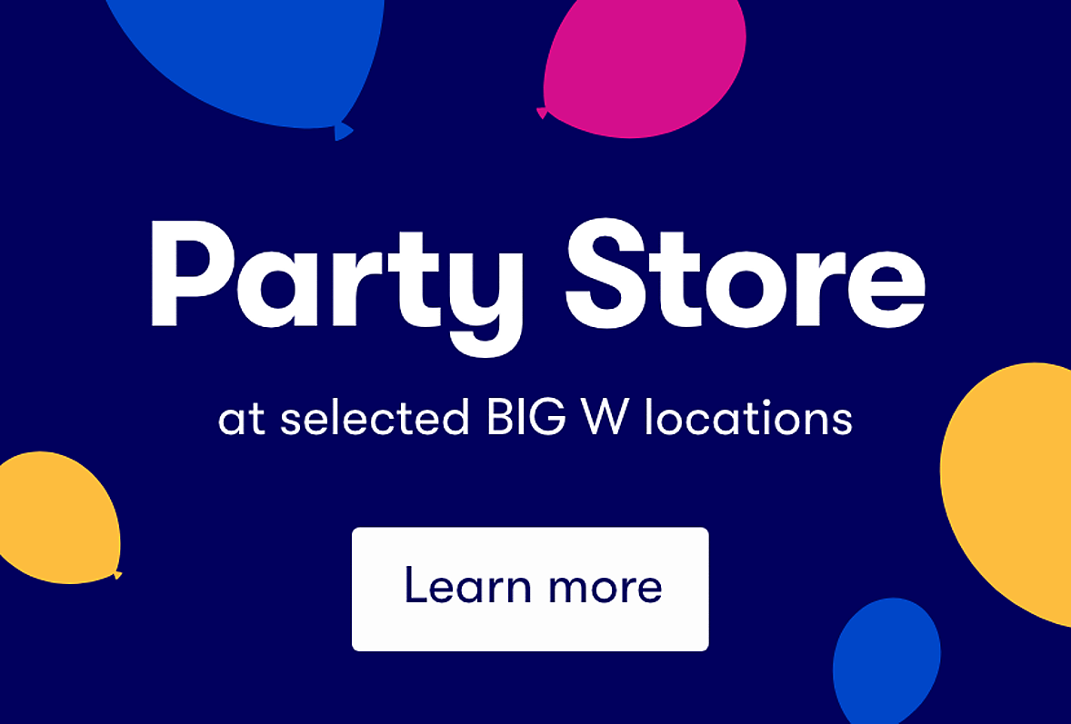 BIG W party store