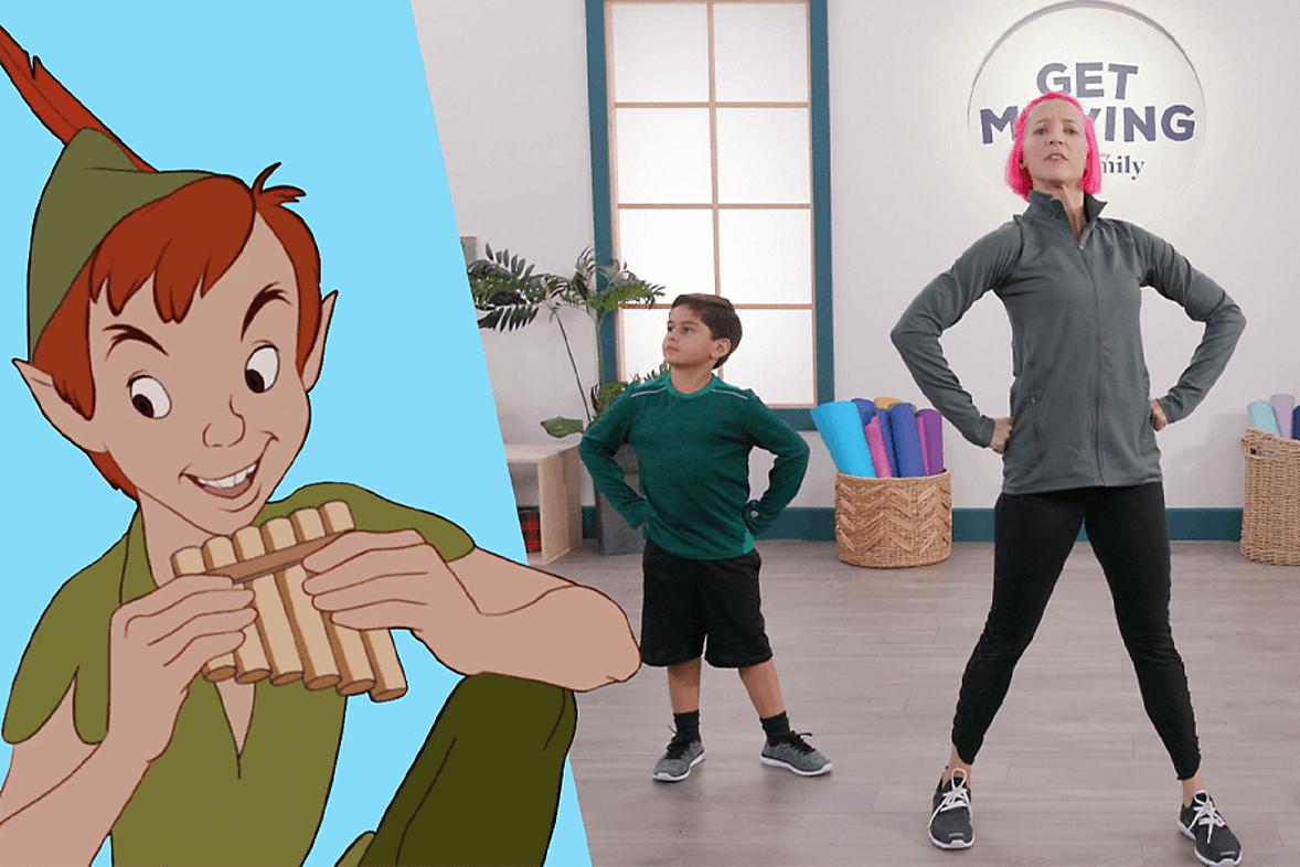 Disney Workout like Peter Pan