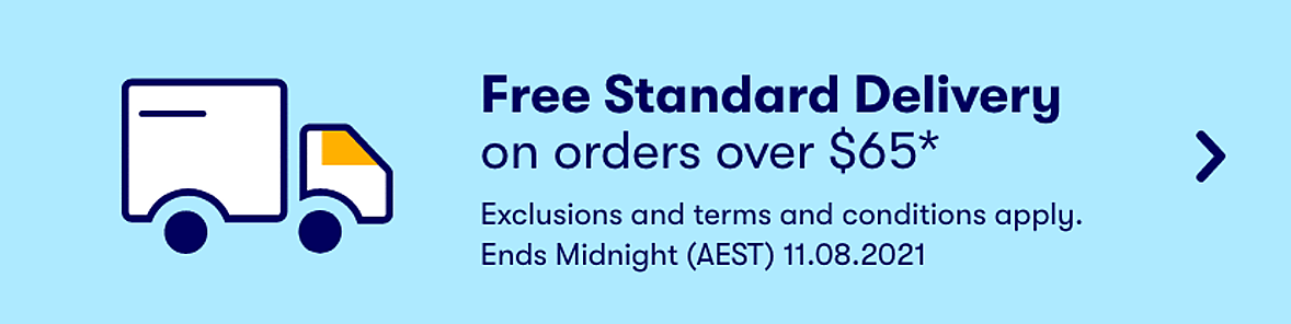 Free Standard Delivery when you spend $65