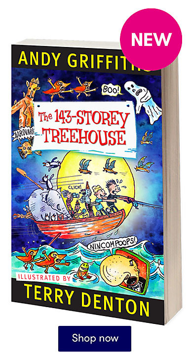The 143 Storey Treehouse by Andy Griffiths is out now!