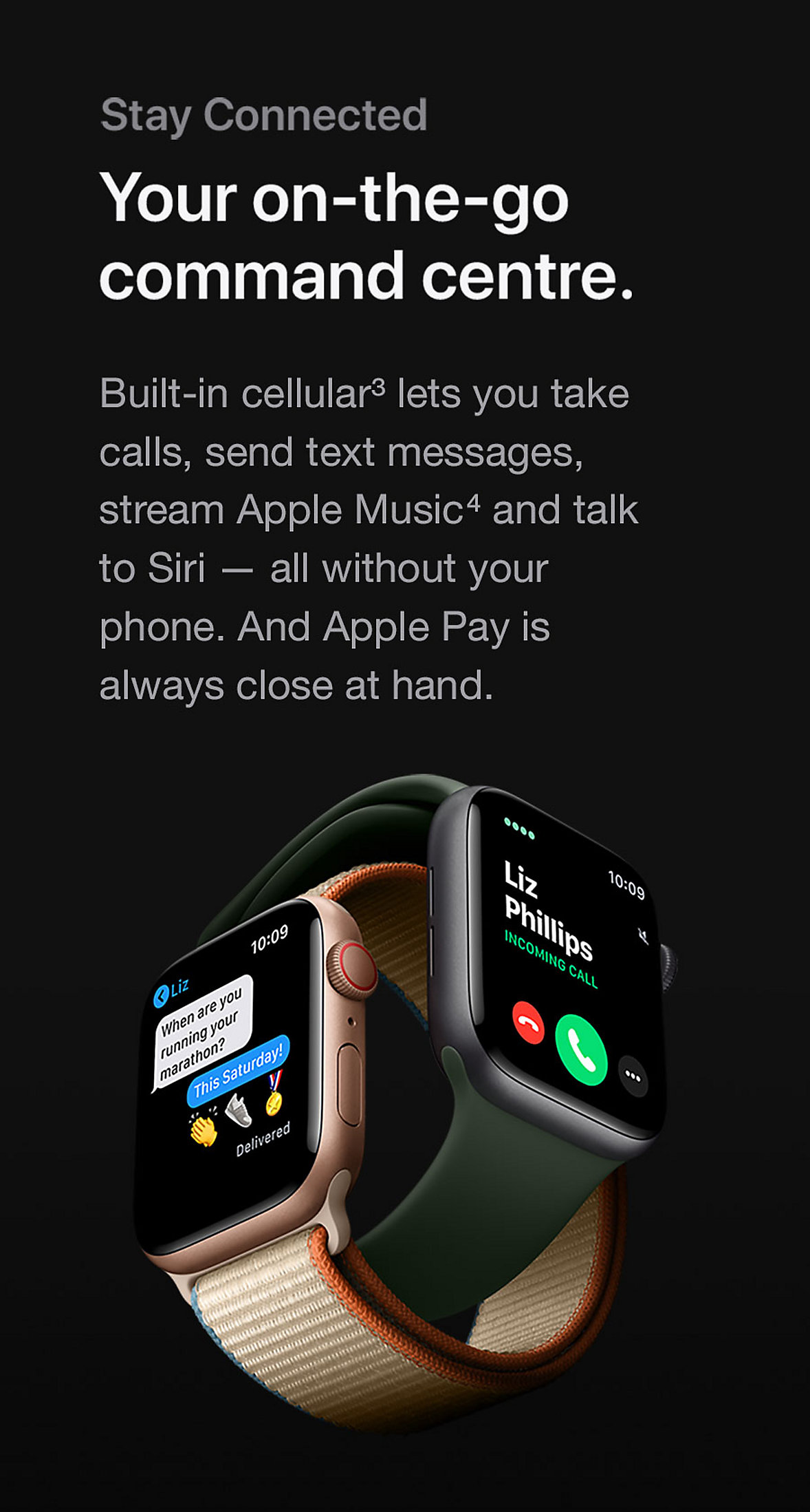 Apple Watch Series 6 Stay Connected
