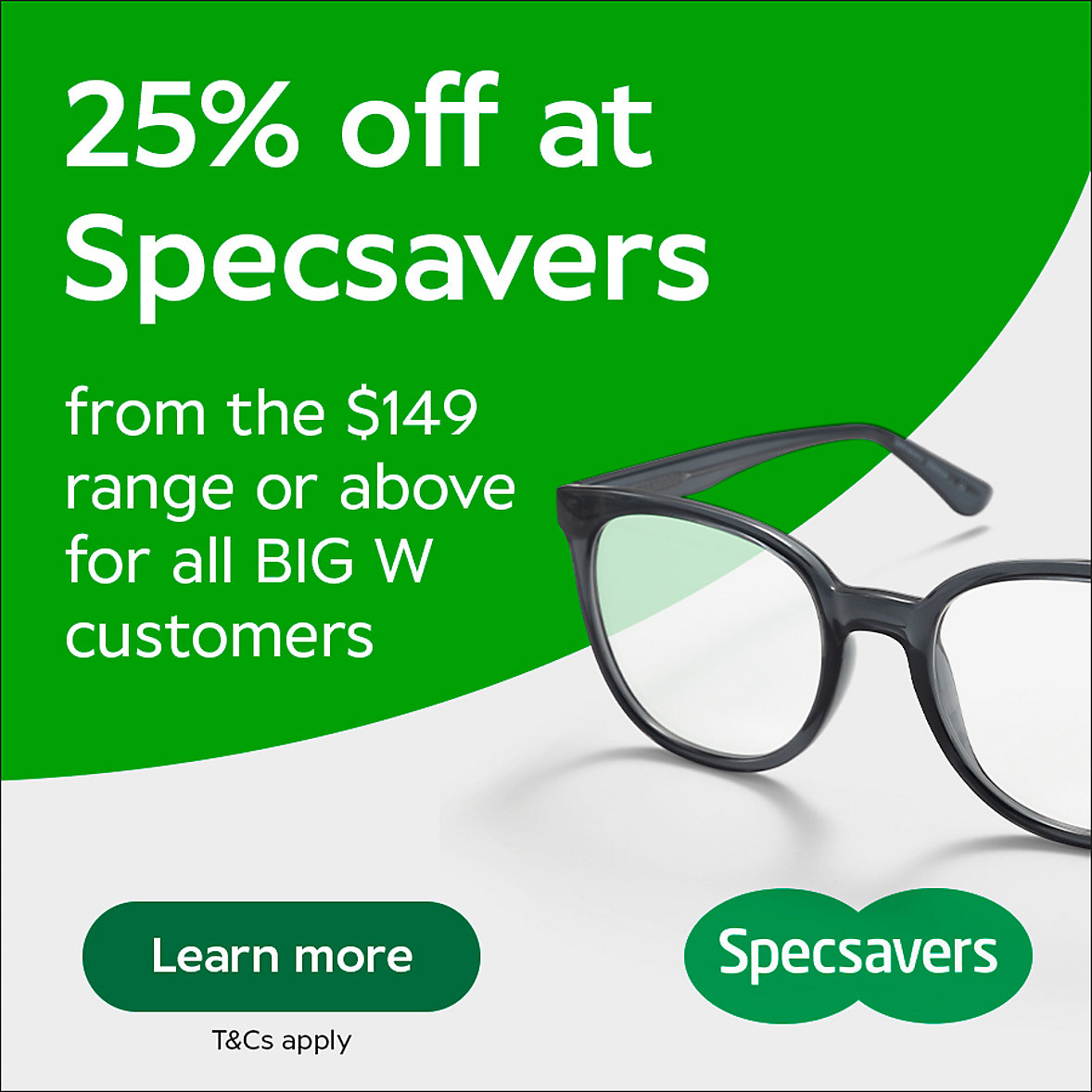 25% off Specsavers