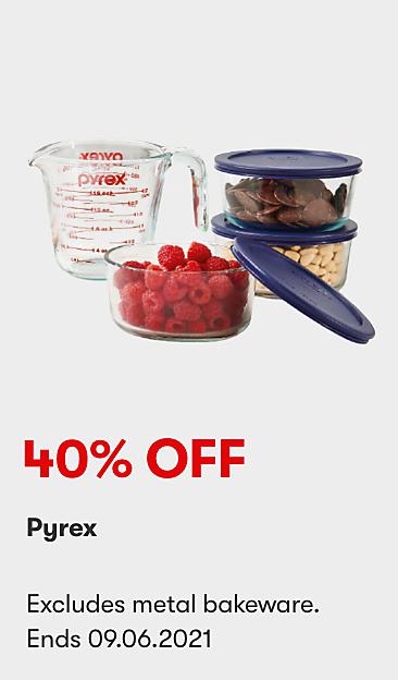 40% off Pyrex