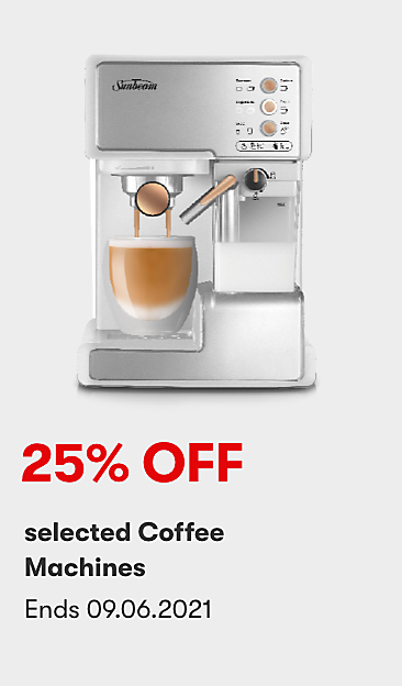 25% off selected Coffee Machines