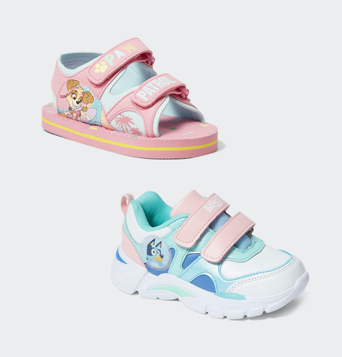 kids character girls shoes