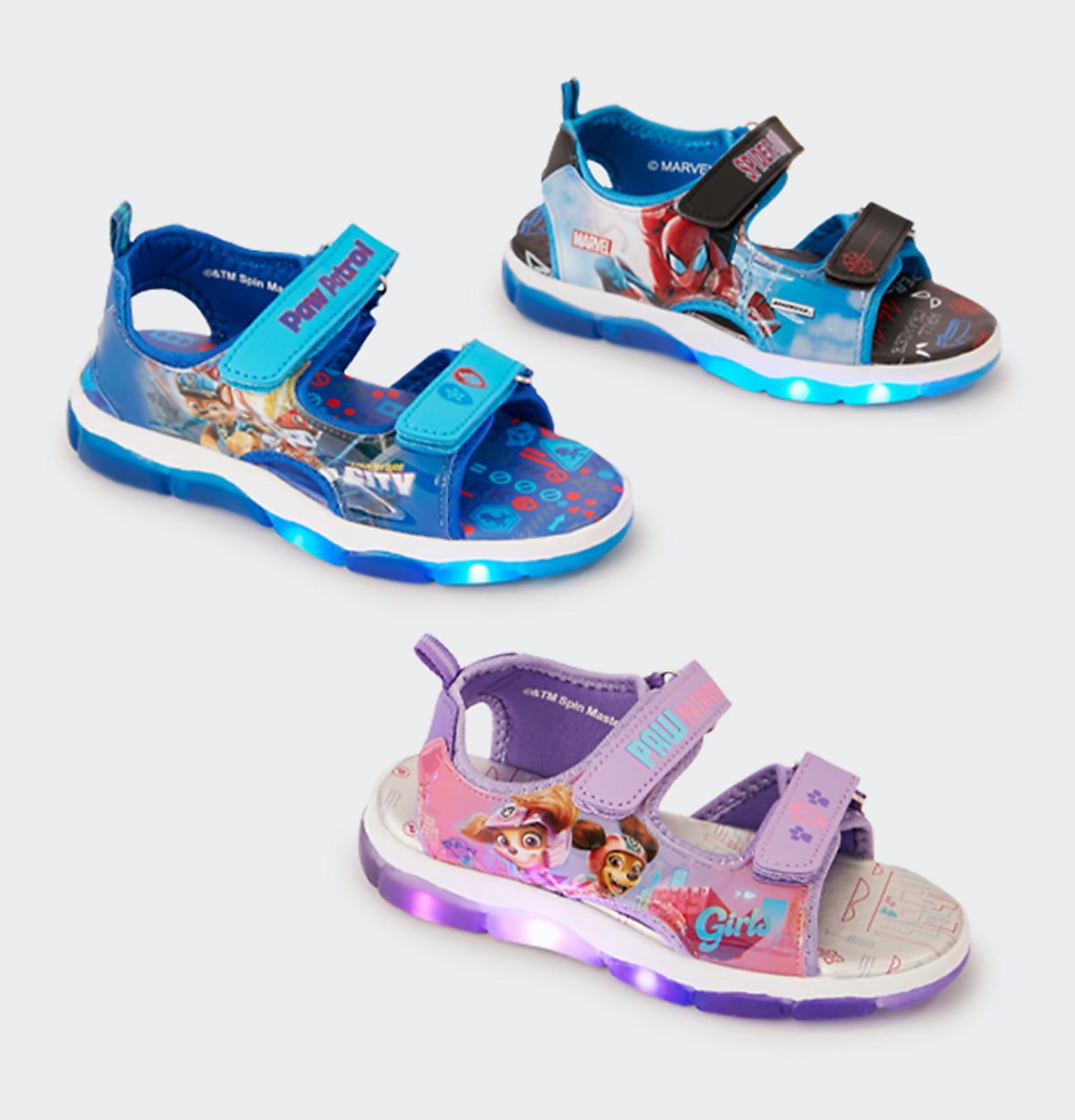 kids character light up shoes