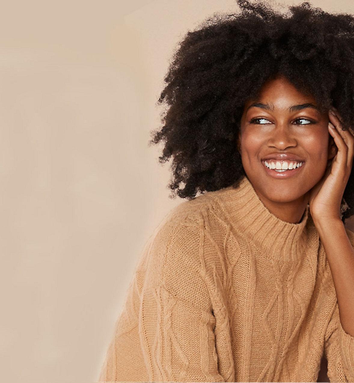&me womens brown tan jumper