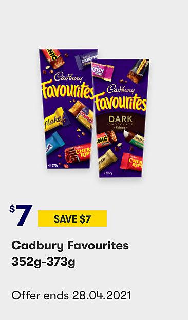 Save on Cadbury Favourites
