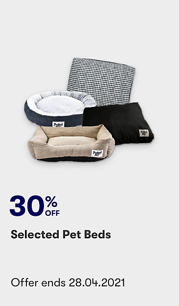 Save on selected pet beds