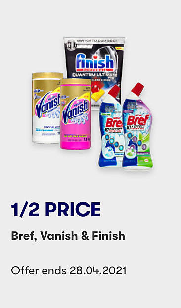 Save on selected cleaning products