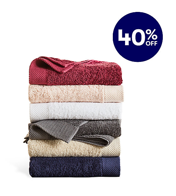 40% off House & Home Egyptian cotton towels