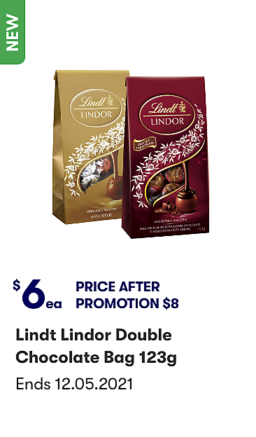 Lindt Lindor Double Chocoalte Bag 123g