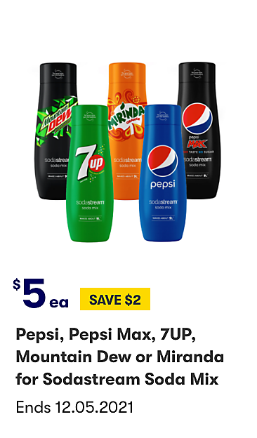Pepsi Flavours for Sodastream $5