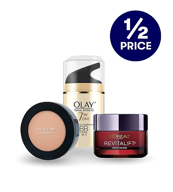 1/2 price these big beauty brands