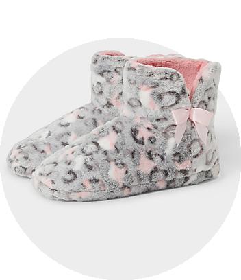 mini me leopard slippers