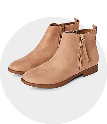 mini me tan boots
