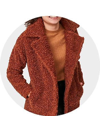 mini me teddy brown coat