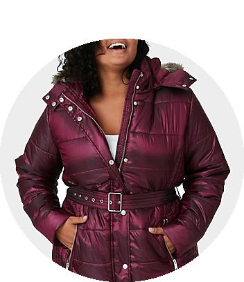 mini me puffy purple jacket