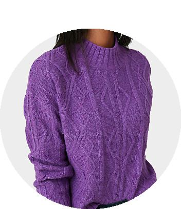 mini me purple knit jumper