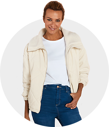 women white top and jacket