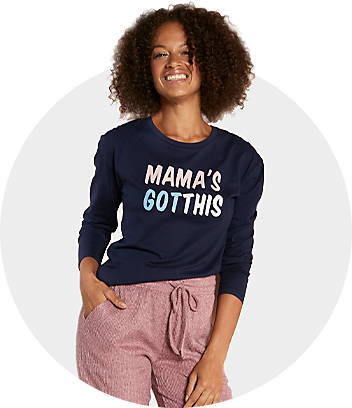 women mama's got this blue and pink sleepwear