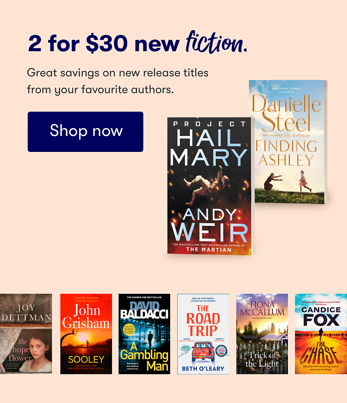 New Release Fiction Books 2 for $30