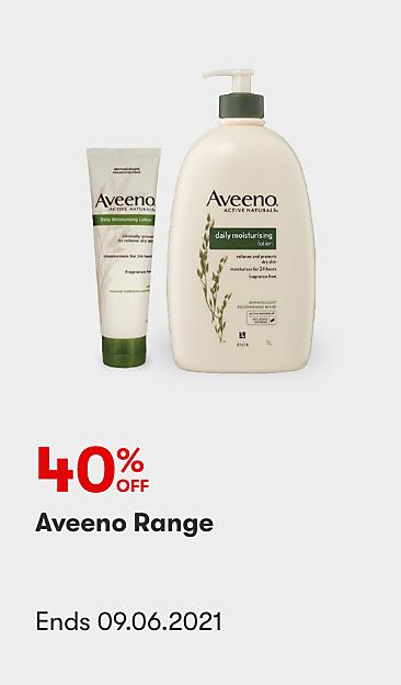 40% off Aveeno Range