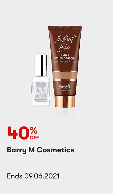 40% off Barry M Cosmetics