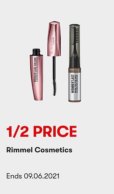 1/2 Price Rimmel Cosmetics