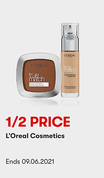 1/2 Price L'Oreal Cosmetics