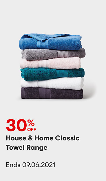 30% off House & Home Classics Towel Range