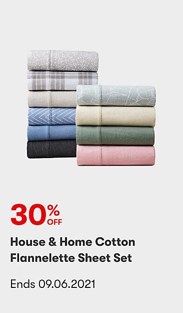 30% off House & Home Flannelette Sheet Sets