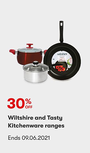 30% off Wiltshire and Tasty Kitchenware ranges