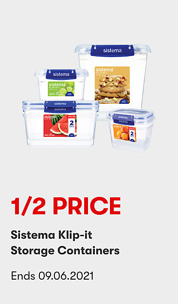 1/2 Price Sistema Klip-It Storage Containers
