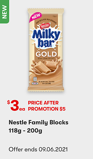 Nestle Family Blocks 118g - 200g $3 Price after promotion $5