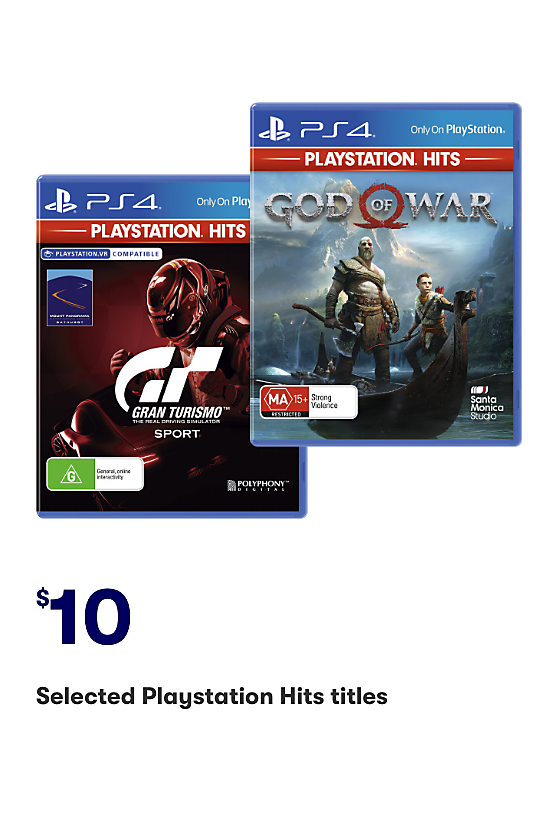 Selected Playstation Hits titles