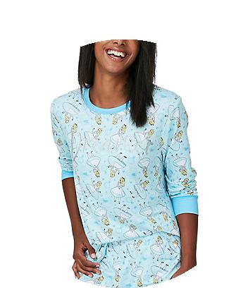 blue alice in wonderland womens pyjamas